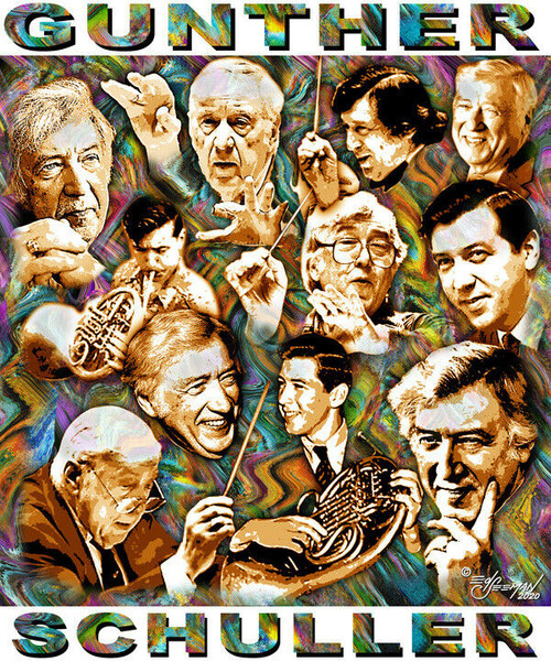 Gunther Schuller Tribute T-Shirt or Poster Print by Ed Seeman