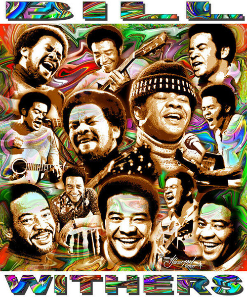 Bill Withers In Memoriam Tribute T-Shirt or Poster Print by Ed Seeman