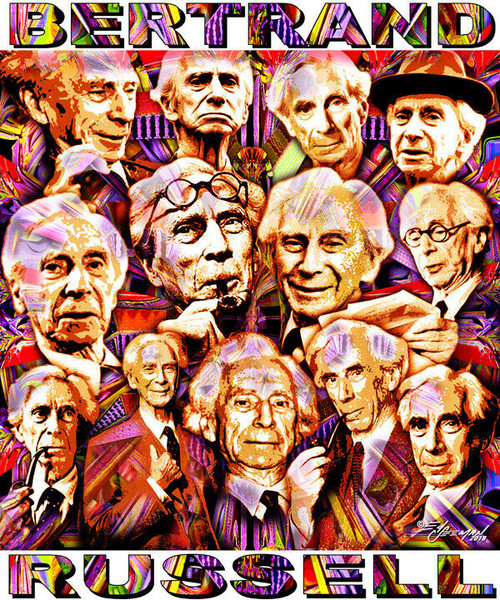 Bertrand Russell Tribute T-Shirt or Poster Print by Ed Seeman