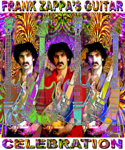 Frank Zappa's Guitar Celebration Tribute T-Shirt or Poster Print by Ed Seeman