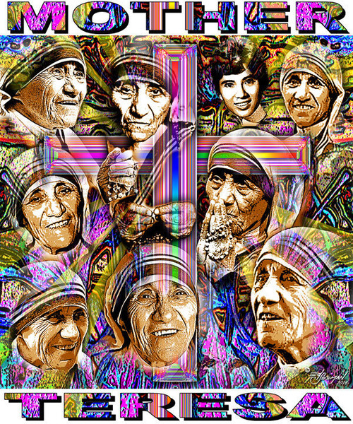 Mother Teresa Tribute T-Shirt or Poster Print by Ed Seeman
