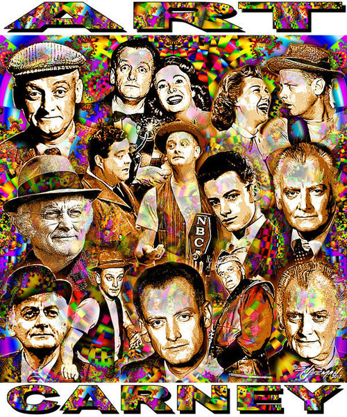 Art Carney Tribute T-Shirt or Poster Print by Ed Seeman