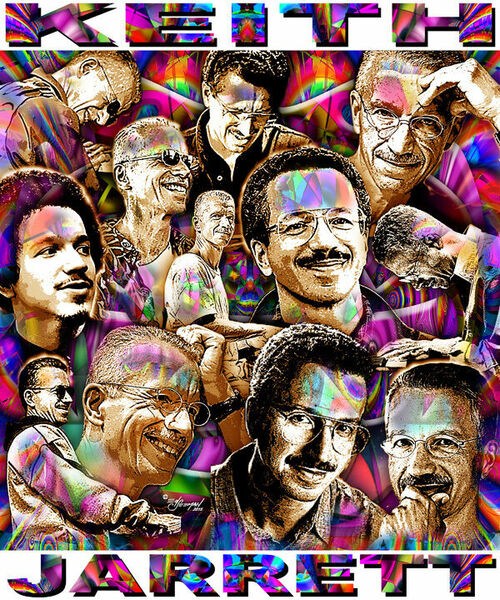 Keith Jarrett Tribute T-Shirt or Poster Print by Ed Seeman