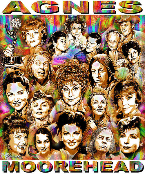 Agnes Moorehead Tribute T-Shirt or Poster Print by Ed Seeman
