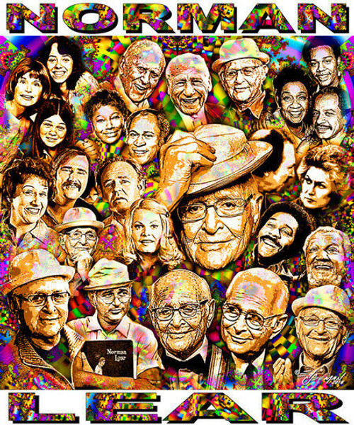 Norman Lear Tribute T-Shirt or Poster Print by Ed Seeman