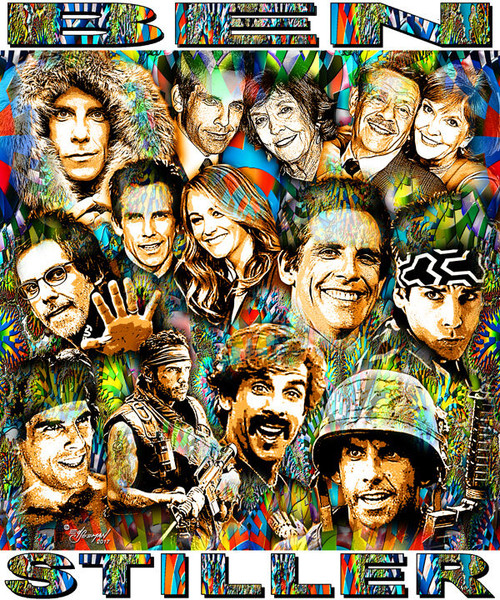 Ben Stiller Tribute T-Shirt or Poster Print by Ed Seeman