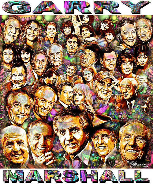 Garry Marshall Tribute T-Shirt or Poster Print by Ed Seeman