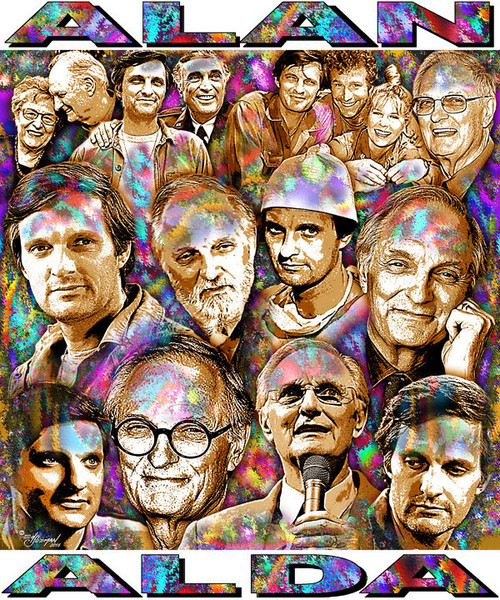 Alan Alda Tribute T-Shirt or Poster Print by Ed Seeman