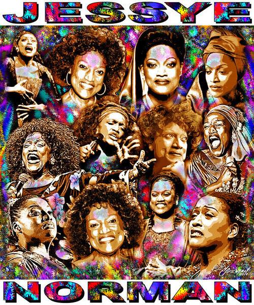 Jessye Norman Tribute T-Shirt or Poster Print by Ed Seeman