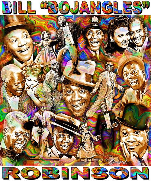 "Bill ""Bojangles"" Robinson Tribute T-Shirt or Poster Print by Ed Seeman"