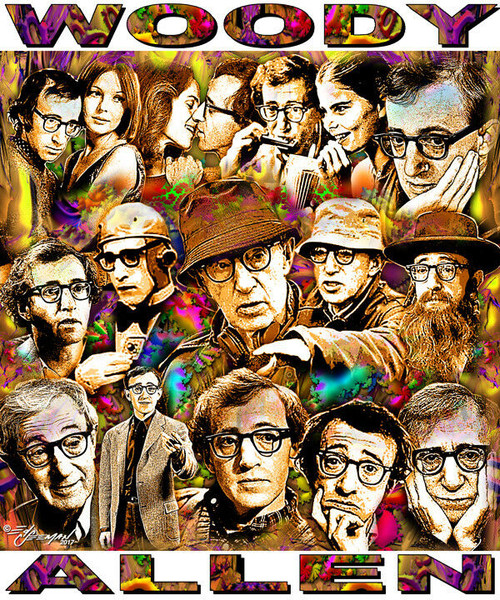 Woody Allen Tribute T-Shirt or Poster Print by Ed Seeman