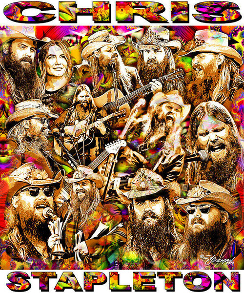 Chris Stapleton Tribute T-Shirt or Poster Print by Ed Seeman