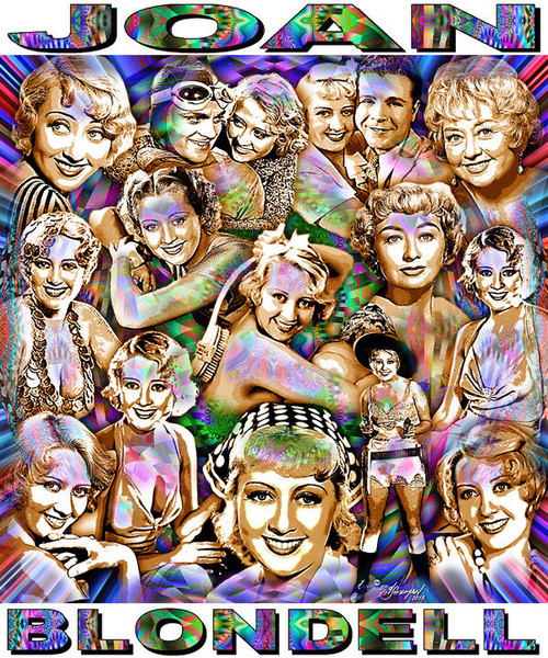 Joan Blondell Tribute T-Shirt or Poster Print by Ed Seeman