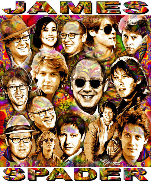 James Spader Tribute T-Shirt or Poster Print by Ed Seeman