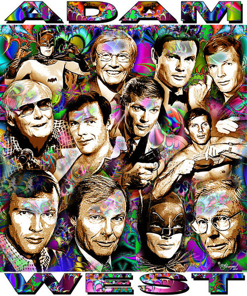 Adam West Tribute T-Shirt or Poster Print by Ed Seeman