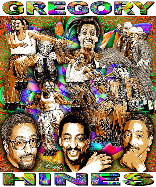 Gregory Hines Tribute T-Shirt or Poster Print by Ed Seeman