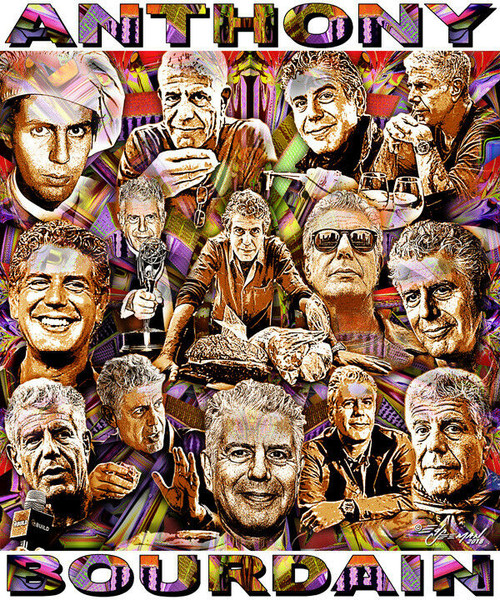 Anthony Bourdain Tribute T-Shirt or Poster Print by Ed Seeman