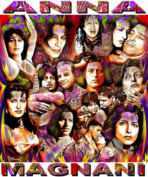 Anna Magnani Tribute T-Shirt or Poster Print by Ed Seeman