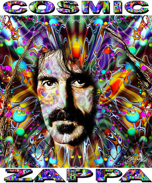 Cosmic Zappa Tribute T-Shirt or Poster Print by Ed Seeman