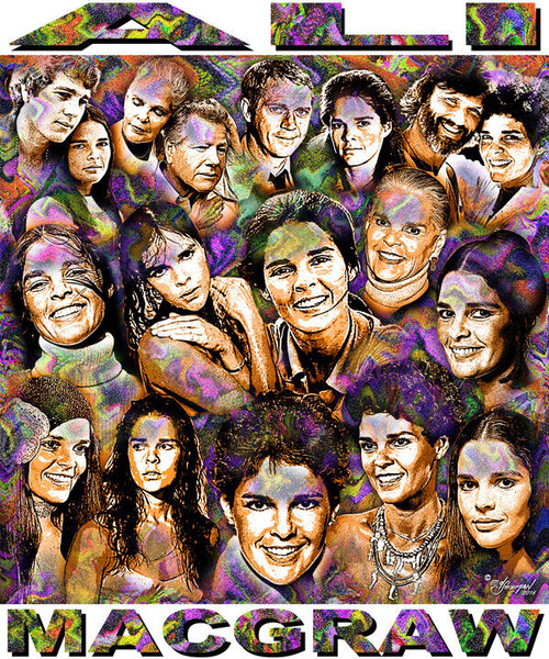 Ali Macgraw Tribute T-Shirt or Poster Print by Ed Seeman