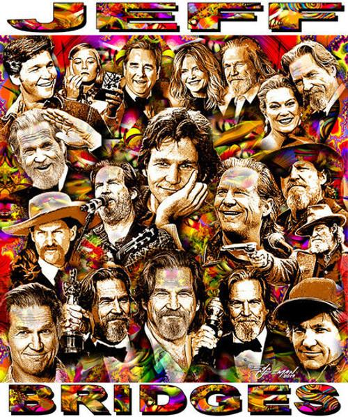 Jeff Bridges Tribute T-Shirt or Poster Print by Ed Seeman