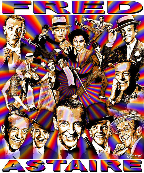 Fred Astaire Tribute T-Shirt or Poster Print by Ed Seeman