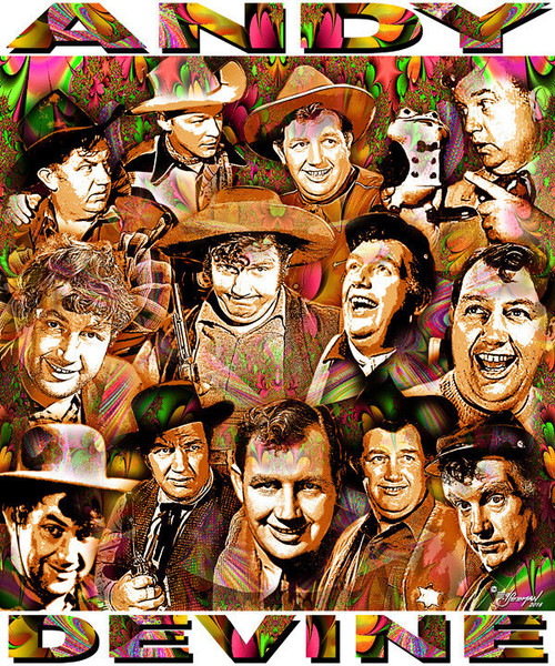 Andy Devine Tribute T-Shirt or Poster Print by Ed Seeman