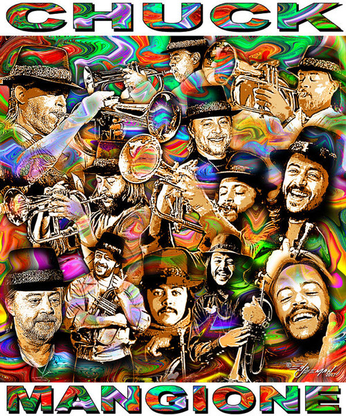 Chuck Mangione Tribute T-Shirt or Poster Print by Ed Seeman