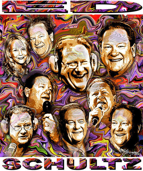Ed Schultz In Memoriam Tribute T-Shirt or Poster Print by Ed Seeman
