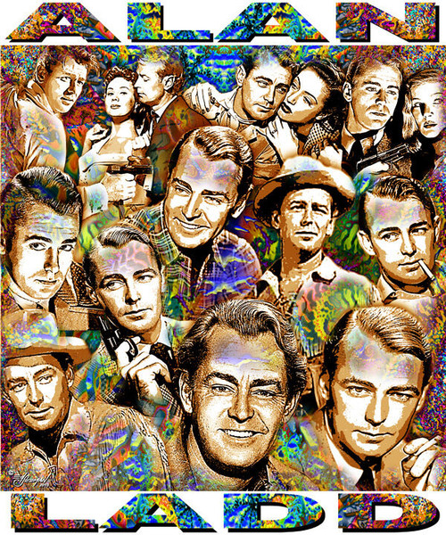 Alan Ladd Tribute T-Shirt or Poster Print by Ed Seeman