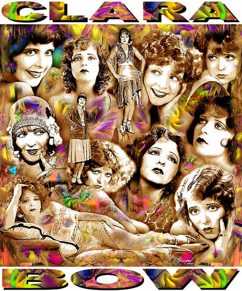 Clara Bow Tribute T-Shirt or Poster Print by Ed Seeman