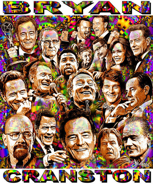 Bryan Cranston Tribute T-Shirt or Poster Print by Ed Seeman