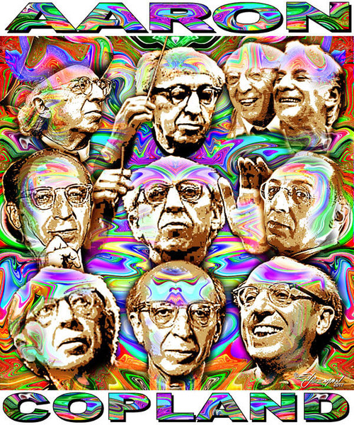 Aaron Copland Tribute T-Shirt or Poster Print by Ed Seeman