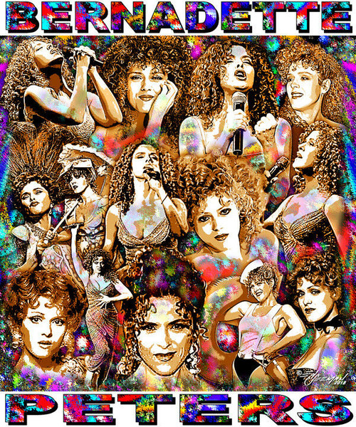 Bernadette Peters Tribute T-Shirt or Poster Print by Ed Seeman