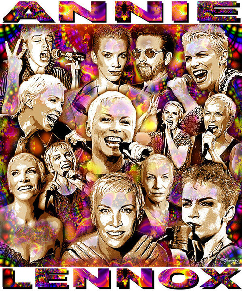 Annie Lennox Tribute T-Shirt or Poster Print by Ed Seeman