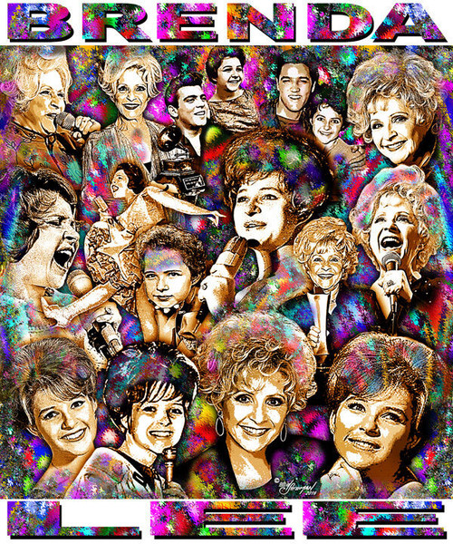 Brenda Lee Tribute T-Shirt or Poster Print by Ed Seeman