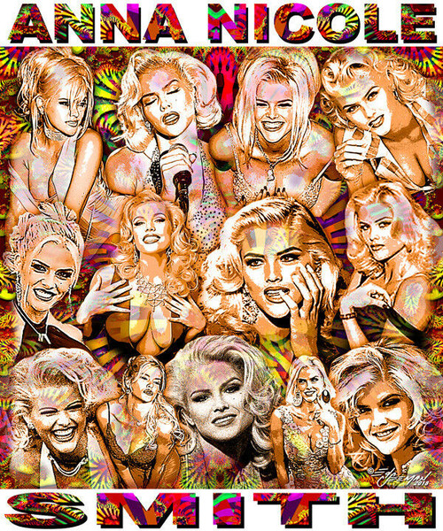 Anna Nicole Smith Tribute T-Shirt or Poster Print by Ed Seeman