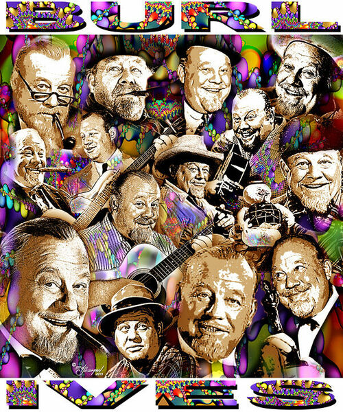 Burl Ives Tribute T-Shirt or Poster Print by Ed Seeman