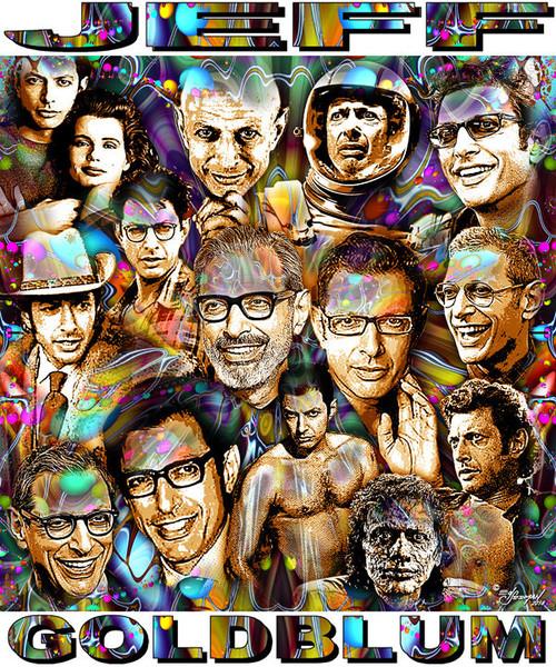 Jeff Goldblum Tribute T-Shirt or Poster Print by Ed Seeman