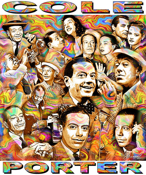 Cole Porter Tribute T-Shirt or Poster Print by Ed Seeman