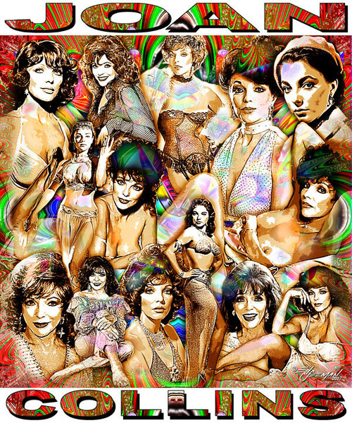 Joan Collins Tribute T-Shirt or Poster Print by Ed Seeman