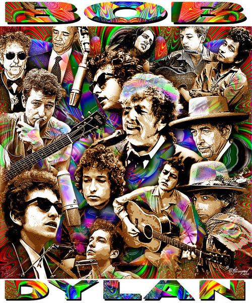 Bob Dylan T-Shirt or Poster Print by Ed Seeman