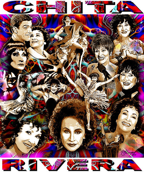 Chita Rivera Tribute T-Shirt or Poster Print by Ed Seeman