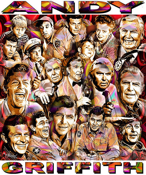 Andy Griffith Tribute T-Shirt or Poster Print by Ed Seeman
