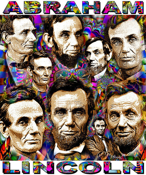 Abraham Lincoln Tribute T-Shirt or Poster Print by Ed Seeman