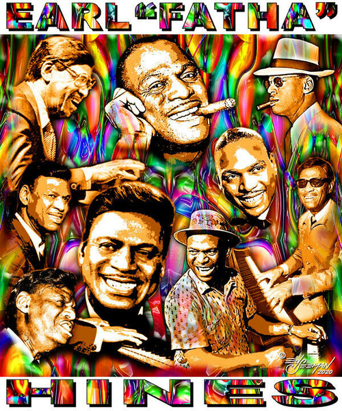 """Earl """"Fatha"""" Hines Tribute T-Shirt or Poster Print by Ed Seeman"""