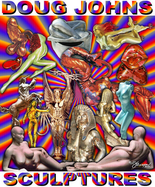 Doug Johns Sculpture Collection Tribute T-Shirt or Poster Print by Ed Seeman