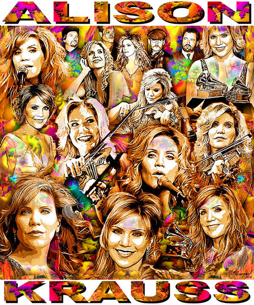 Alison Krauss T-Shirt or Poster Print by Ed Seeman