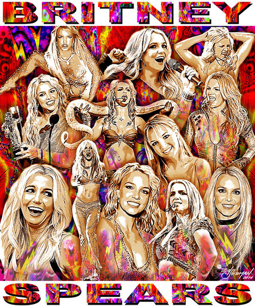 Britney Spears Tribute T-Shirt or Poster Print by Ed Seeman
