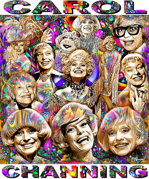Carol Channing Tribute T-Shirt or Poster Print by Ed Seeman